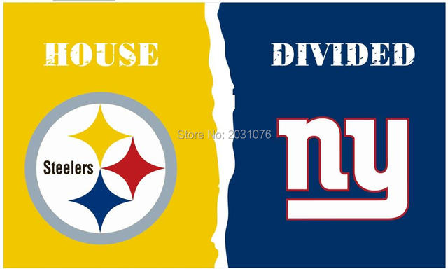 8137fd4b Pittsburgh Steelers vs New York Giants House Divided Rivalry Flag 3 ...