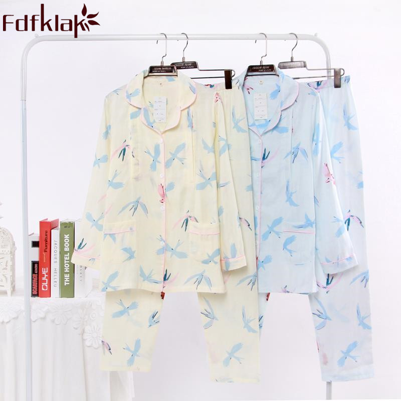 Fdfklak Nursing Pajamas Maternity Pyjama Spring Autumn Long Sleeve Pijama Pregnant Maternity Sleepwear For Feeding Clothes F220