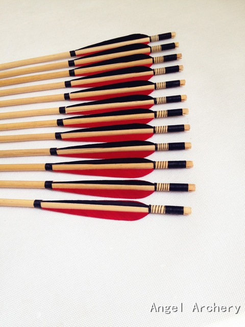 Aliexpresscom Buy 6pk Handmade Wooden Arrows Turkey Feathers Self Nock Wood Target Practice Arrows Target Tips Wooden Arrows For Hunting From