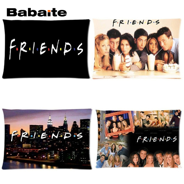 Babaite Custom Friends Tv Show Poster Art Series Printing On Soft Throw Pillowcase Invisible Zippered Twin