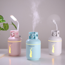 300ml Gas Tank Ultrasonic Air Humidifier Portable Car Air Purifier 3 In 1 USB Aroma Essential Oil Diffuser With USB Light Fan цена и фото