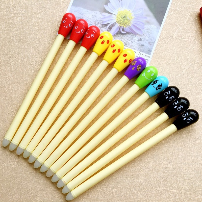 6 Colorful Matches Shell Erasable Gel Pens Black And Blue Ink Pen 1PCS 0.38mm Office Stationery And School Supplies Pens