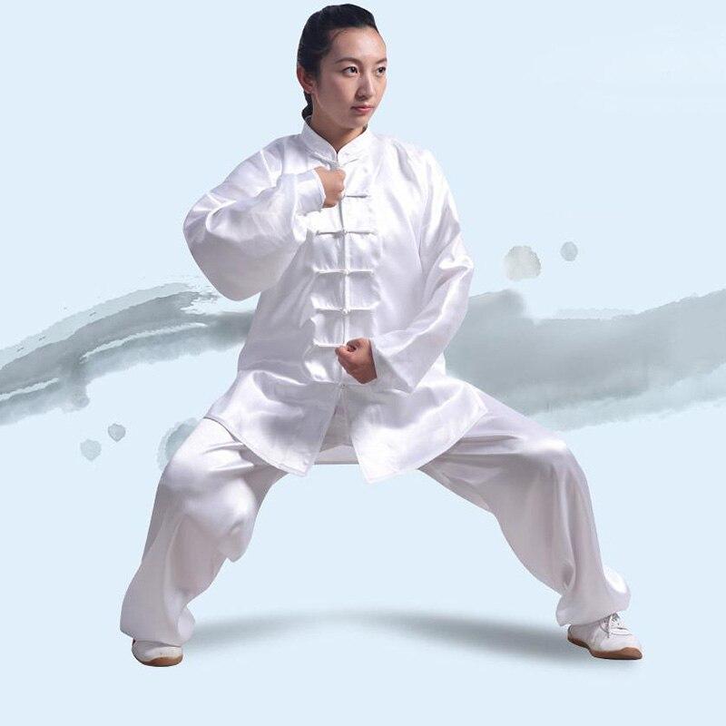 Ejqyhqr Zomer Mannen En Vrouwen Training Pak Tai Chi Kleding Uniform Wushu Kung Fu Art Prestaties Pak Lange Mouw Kostuum Goedkope Verkoop 50%