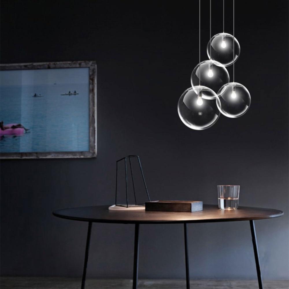 Image 5 - Bubble Pendant Light Glass Pendant Lighting Creative Decoration Fixtures for Bedroom Study Dinner Room Bar Modern Pendant lightPendant Lights   -