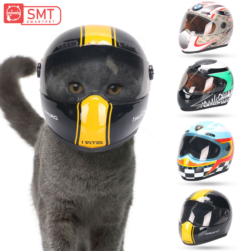 SMARTPET Puppy Cat Hat Helmets Cool Fashion Outdoor Caps with Motorcycles Photo Props Pet Protecting Accessories for Small Pets capacete de moto para cachorro