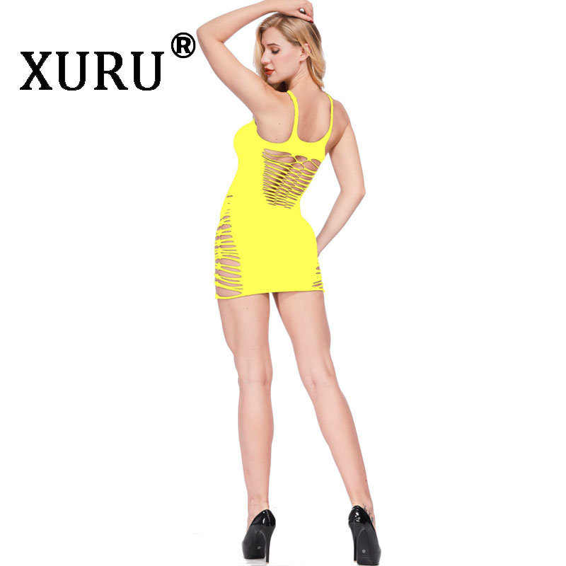 XURU New Women 39 s Hot Sale Nets Sexy Dress Sling Openwork Bag Hip Dress Sexy Nightclub Club Party Dress in Dresses from Women 39 s Clothing