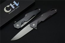 CH days of the ball bearing titanium handle blades 9Cr18MoV folding knife camping hunting survival EDC outdoor tools