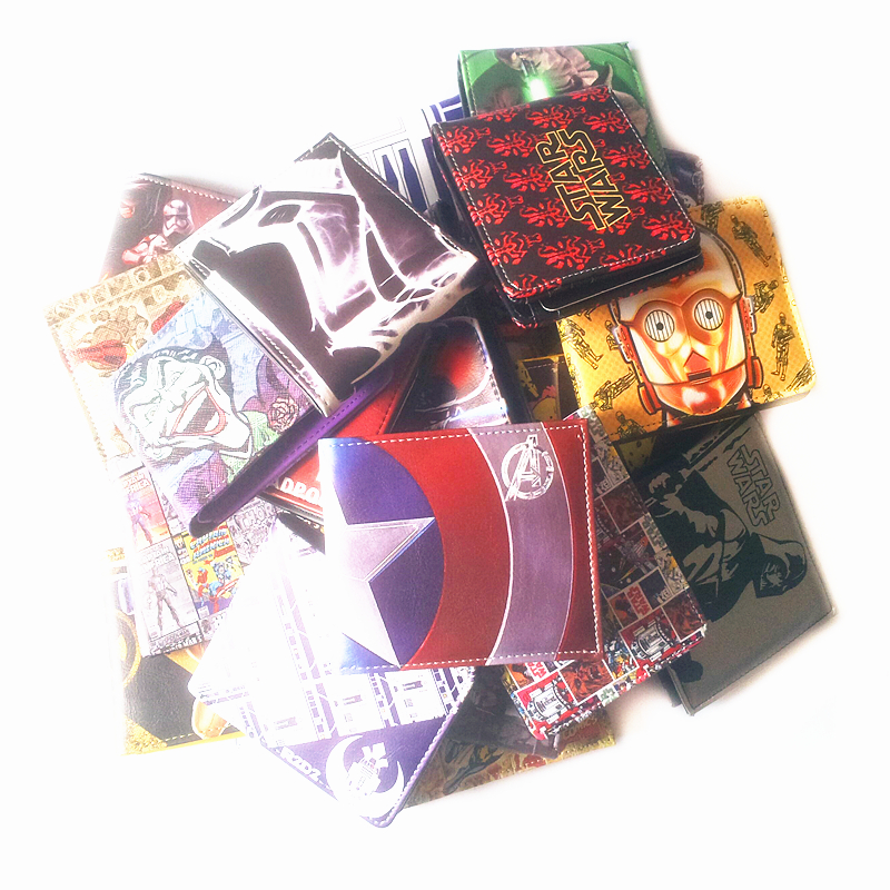 Dc Cartoon Wallet Suicide Squad Super Mario Harry Potter Deadpool The Avengers Purse Credit Oyster License Card Man Wallets ...