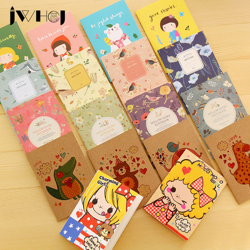 1 pcs  Creative cartoon Portable Mini notebook diary cash book notepad stationery school supplies gift for kids papelaria
