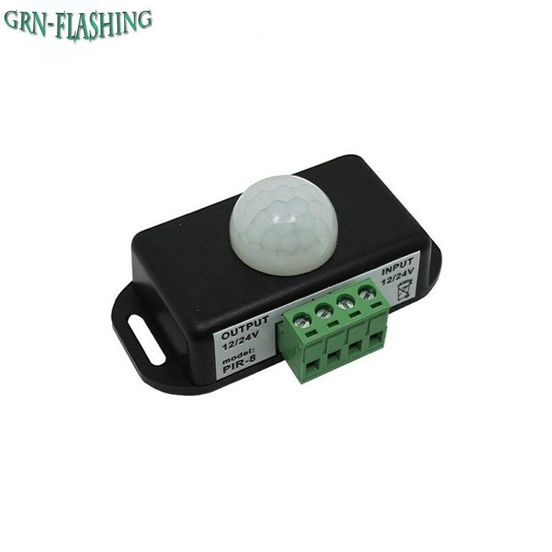 DC12V-24V Body Automatic Infrared PIR Motion Sensor Switch For LED Strip Light human sensor module body sensor module led strip automatic mini pir infrared motion sensor detector switch dc5 24v