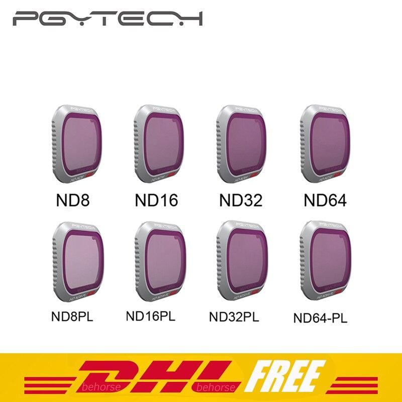 4 шт. PGYTECH Mavic 2 Pro Набор светофильтров для камеры ND8/16/32/64-PL ND8/16/32/64 фильтры Комплект DJI Мавик 2 про фильтр аксессуары