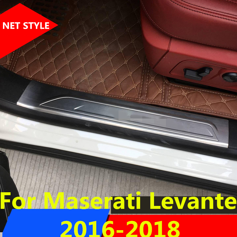 2018 Maserati Levante Interior: Stainless Steel Welcome Pedal Refires Door Sill Strip