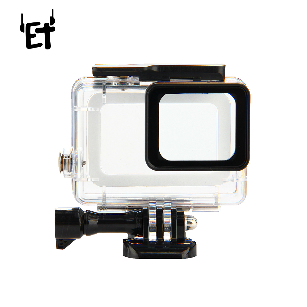 ET Sports Camera Waterproof Case Max 45M Underwater Diving Housing Protector Cover for Go Pro Hero 5 Action Camera Accessories