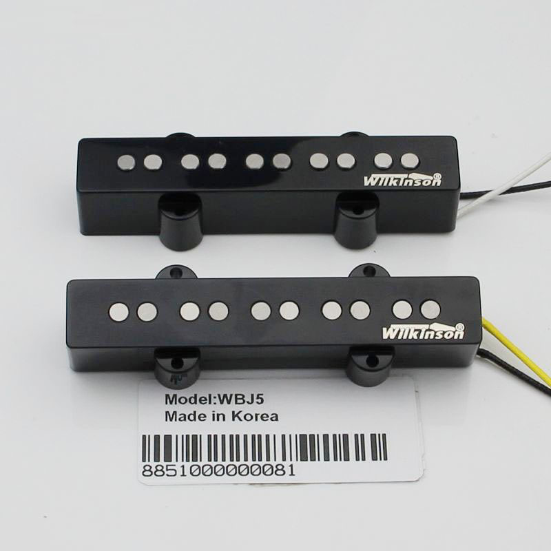 Han Wilkinson JB 5 string electric bass pickups five string electric bass pickups set yibuy 1 set of 4 string sealed pickups for jb bass guitar