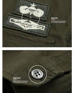 Image 3 - top quality fashion men long sleeve cotton shirts military fitness cargo outwear dress shirts M 6XL AYG75