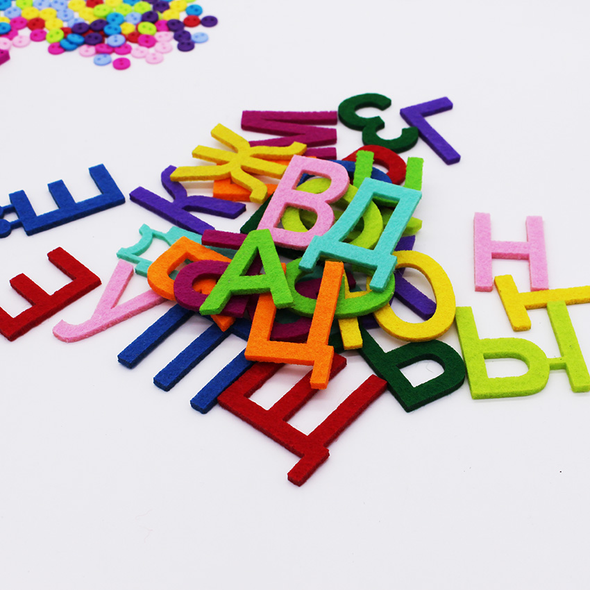 felt alphabet letters for sewing cloth felts craft 3mm thick felt fabric for scrapbooking fieltro feltro