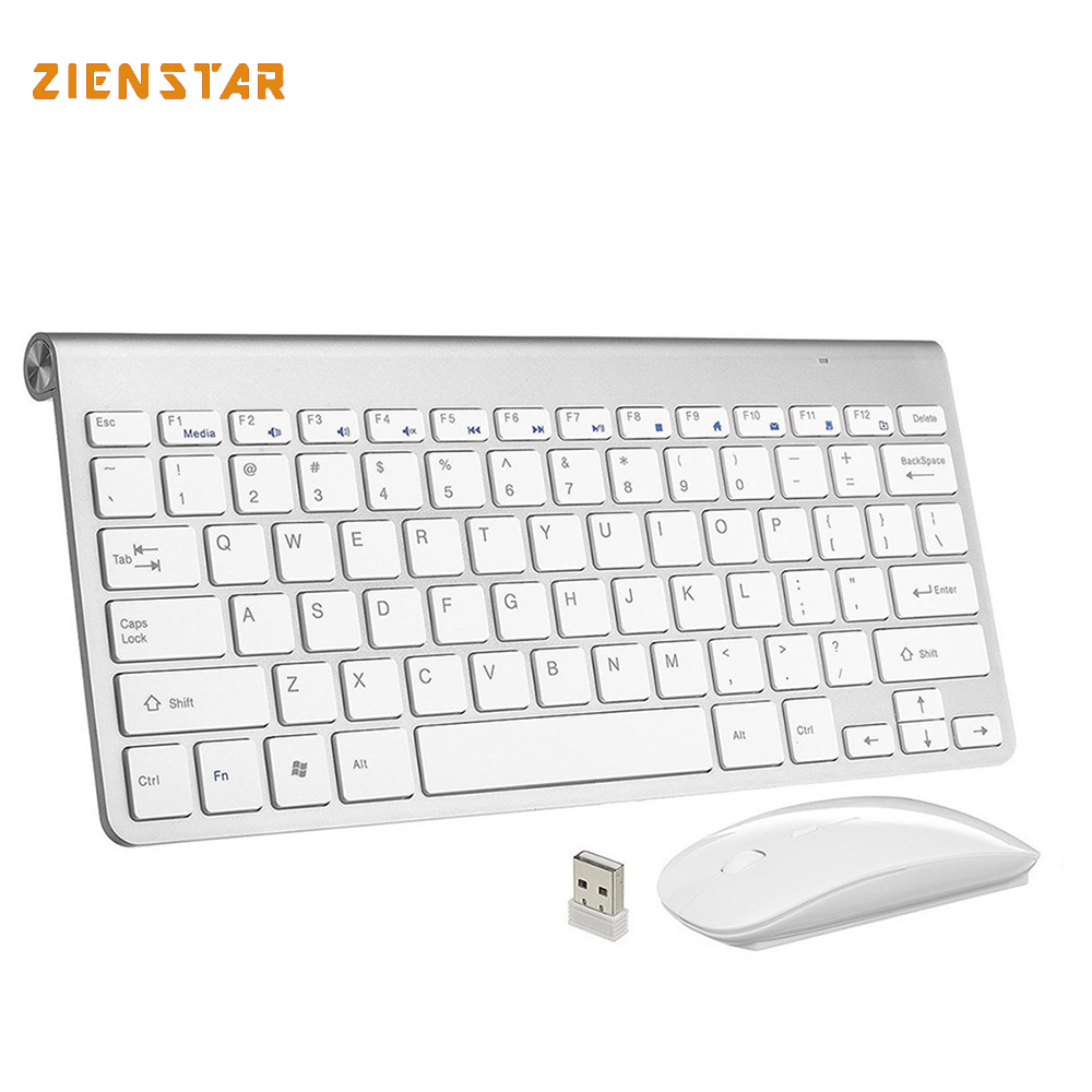 High quality Ultra Thin Wireless keyboard 2.4G keyboard Mouse combo Wireless mouse and 2.4G Receiver for Mac PC Laptop Tv BOX