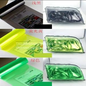 Image 2 - 30*100 см/партия, автомобильная Глянцевая световая пленка с 3 слоями для защиты передсветильник света, глянцевая светильник пленка с бесплатной доставкой