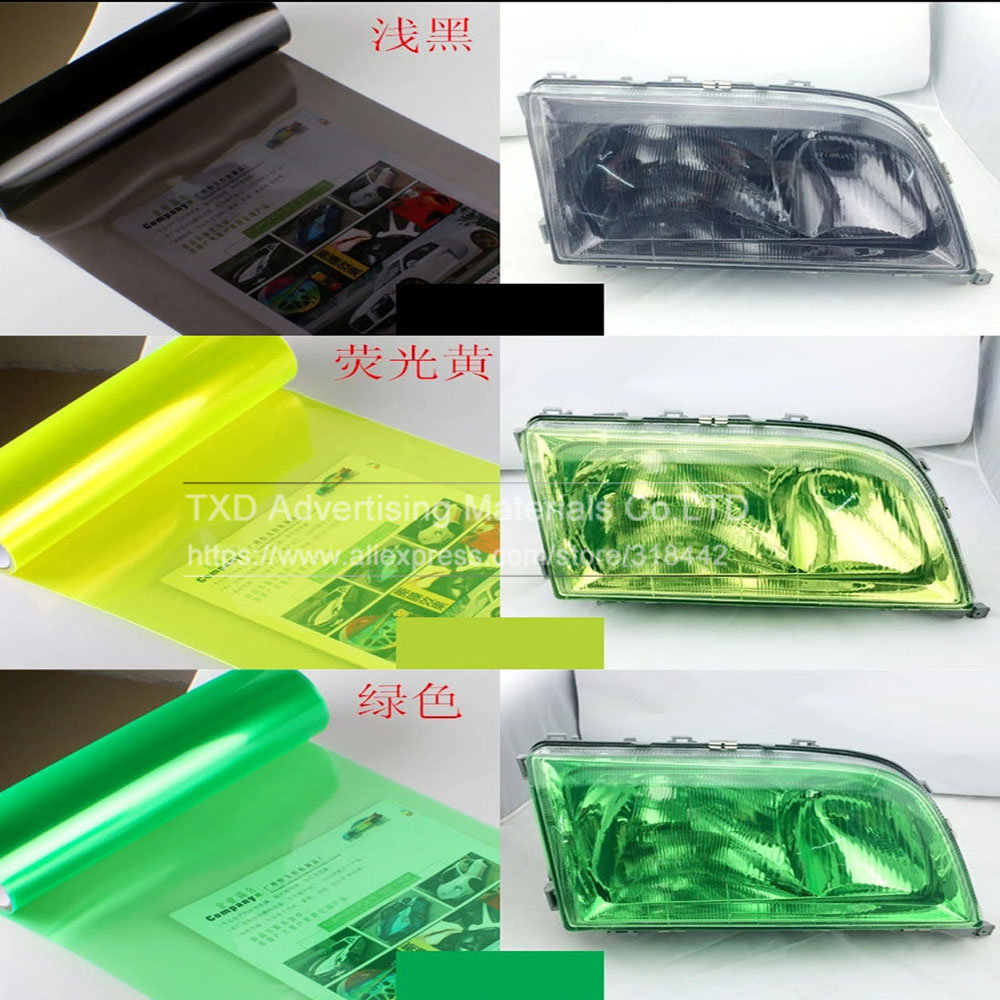 Image 2 - 30*100CM/Lot Glossy Car Headlight Film with 3 layers for headlight protection Glossy Car light film with free shipping-in Car Stickers from Automobiles & Motorcycles