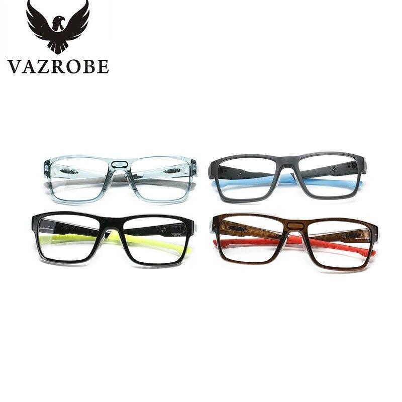 vazrobe fashion transparent eye glasses frame men women oversized eyeglasses frame wide square eyeglass frames with optical in eyewear frames from mens - Wide Eyeglass Frames