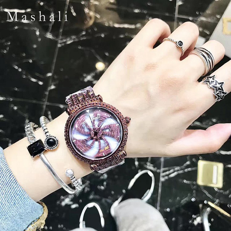 Mashali Brand Women Quartz Watch Ladies Diamond Bracelet Wristwatch Top Fashion Luxury Dress Clock Montre Femme Relogio Feminino silver diamond women watches luxury brand ladies dress watch fashion casual quartz wristwatch relogio feminino