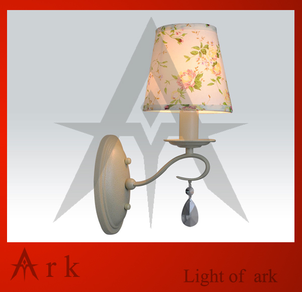 ark light free shipping fashion lamp rustic iron lamp crystal lamp flowers and lights wall lamp bed-lighting modern brief fashion crystal wall lamp bed lighting rustic bedside wall lamp