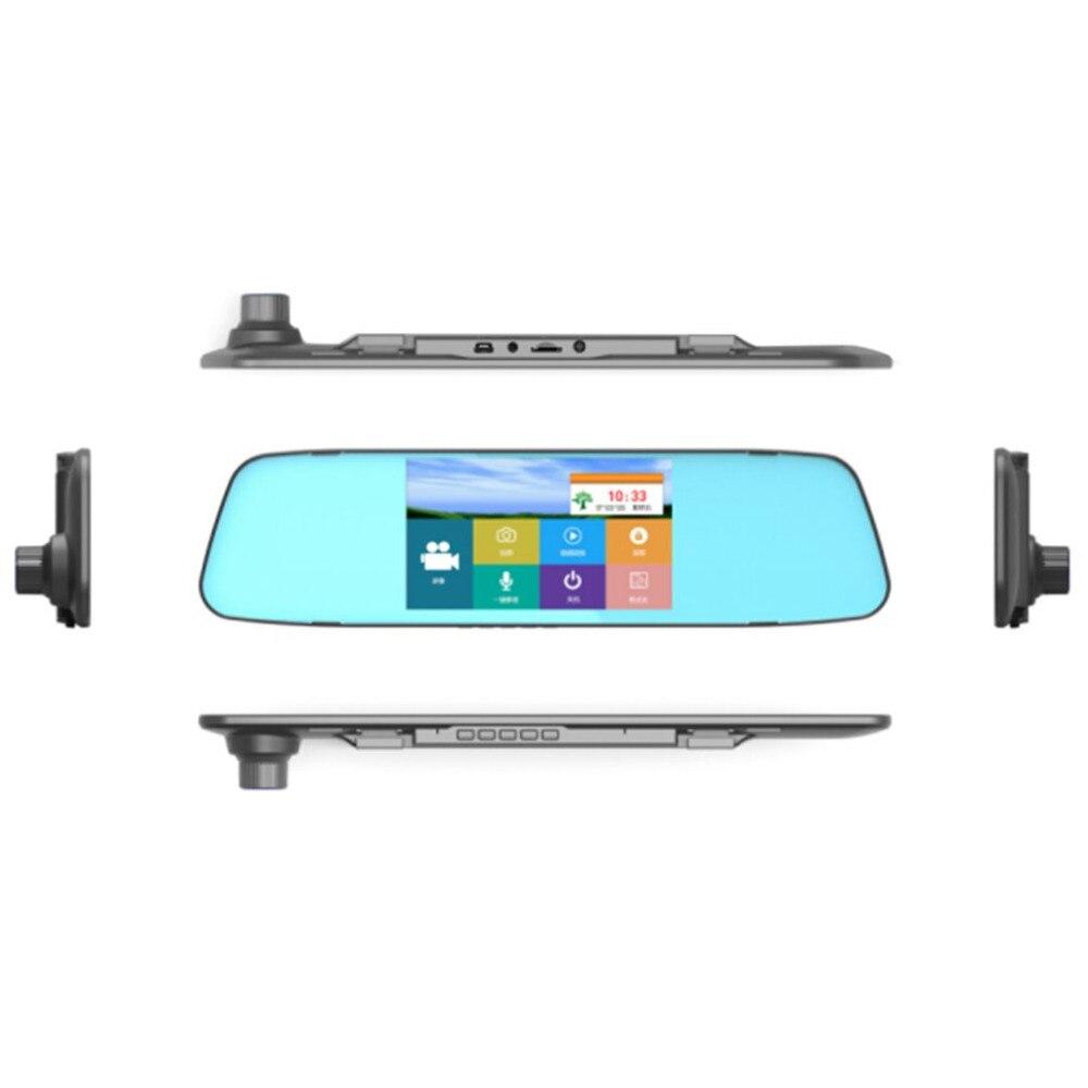Новый 7,0 дюйм(ов) сенсорный экран Автомобильный видеорегистратор камеры Starlight ночного видения с двумя объективами зеркало заднего вида DVR 1080...