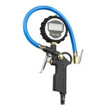 Светодиодный Манометр для автомобильных колес и шин с цифровым дисплеем, прибор для измерения давления воздуха, светодиодный индикатор подсветки автомобиля