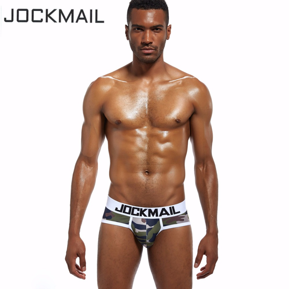 JOCKMAIL Brand Camouflage Mens Underwear Briefs Sexy mens bikini briefs calcinha polyester Breathable Gay underwear Male panties
