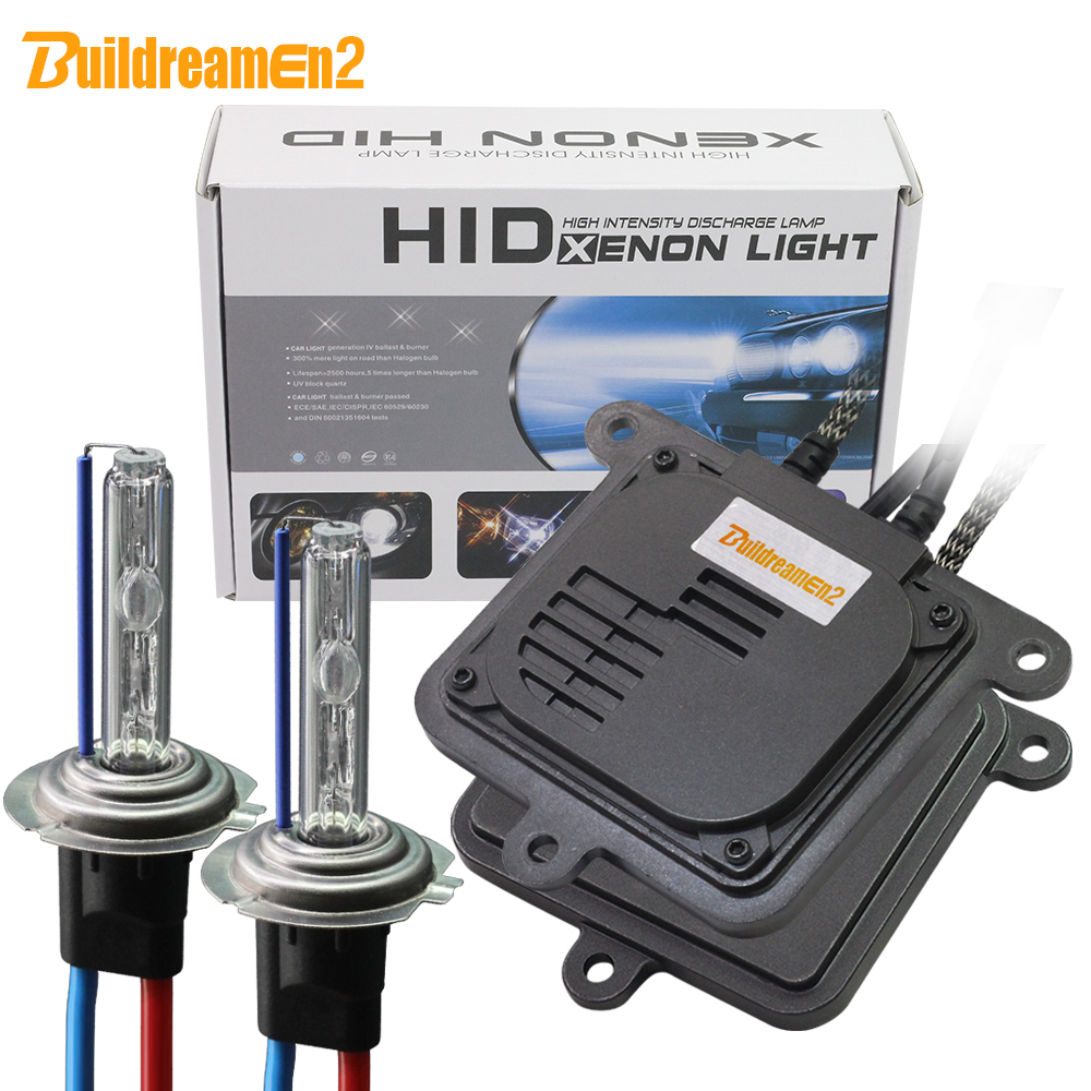Buildreamen2 55 W 10000LM AC Kit xénon ampoule de Ballast voiture phare antibrouillard H1 H3 H7 H8 H11 9005 9006 9007 H4 Hi/Lo 6000 K blanc