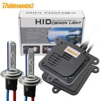Buildreamen2 55W 10000LM AC Xenon Kit Ballast Bulb Car Headlight Fog Light H1 H3 H7 H8