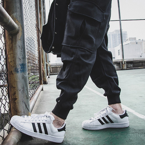NEW HOT Outdoors Cargo Loose Trousers Men Sweat Harem Joggers Pants Hip Hop Slim Fit Sweatpants for Dance Pants