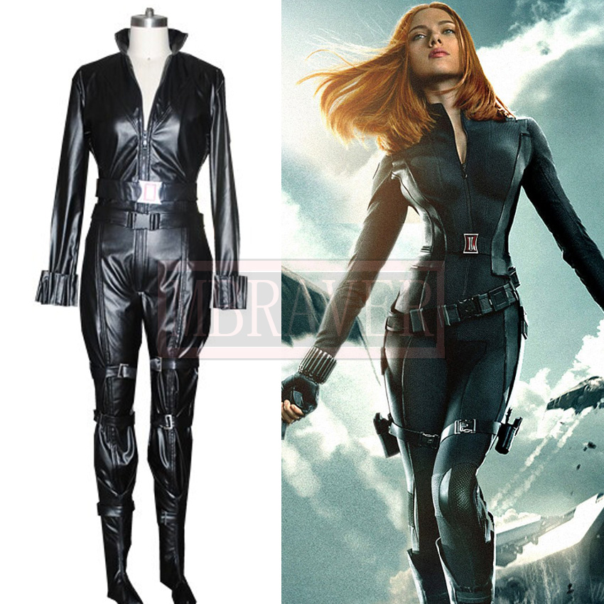 Movie Captain America The Winter Soldier Black Widow Cosplay Costume Custom Made Any Size