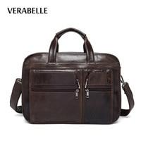 VERABELLE 2017 Luxury Brand Designer Men S Business Top Hand Handbag Briefcase High Quality Genuine Leather