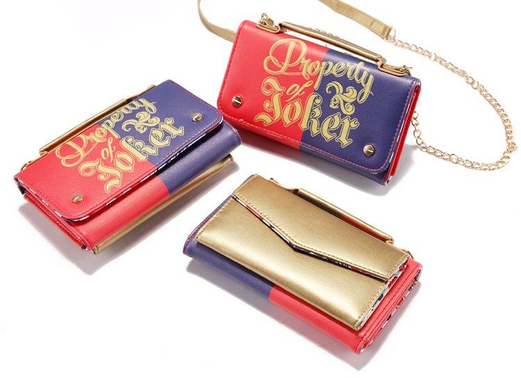 17 Lady Style Wonder Women Suicide Squad Joker Anime Women Mini Shoulder Bag Leather Prints Girl Messenger Multifunction Bags 10
