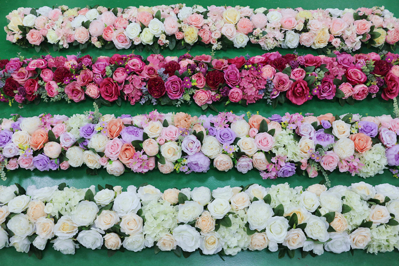 JAROWN Artificial 2M Rose Flower Row Wedding DIY Arched Door Decor Flores Silk Peony Road Cited Fake Flowers Home Party Decoration Maison (6)