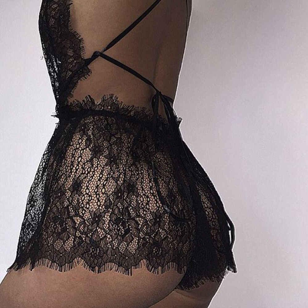 Новый стиль, женское сексуальное кружевное белье, глубокий v-образный вырез, ночное белье, стринги, ночная сорочка, кружевная, чистый цвет, экзотическая