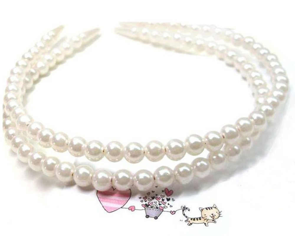 Fatpig 2019 Fashion Women Girl wedding Faux Pearl Beads Hair Band Head Band Party Tiara Gift Pearls Head Pearl Beads