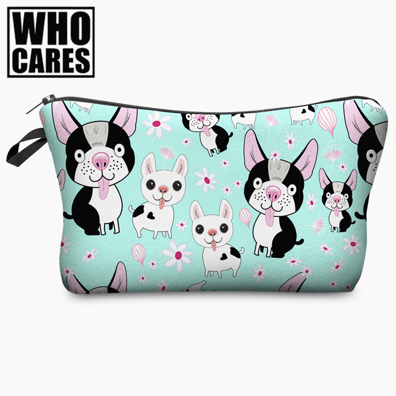 цены Cartoon animal 3D Printing Women Cosmetics Bags Travel Make up Bag Necessaire Organizer Maleta de Maquiagem vanity Makeup Bag