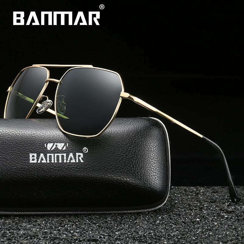 BANMAR New Sunglasses Polarized For Men Sun Glasses Shades Male Square Driving Color Mirror Luxury Brand Designer Oculos