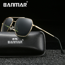 BANMAR New Sunglasses Polarized For Men Sun Glasses Shades Male Square Driving Color Mirror Luxury Brand Designer Oculos