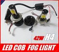one pair H4 45w Canbus LED headlight Fog lamp No Error 3600LM 6000K COB High Beam GGG