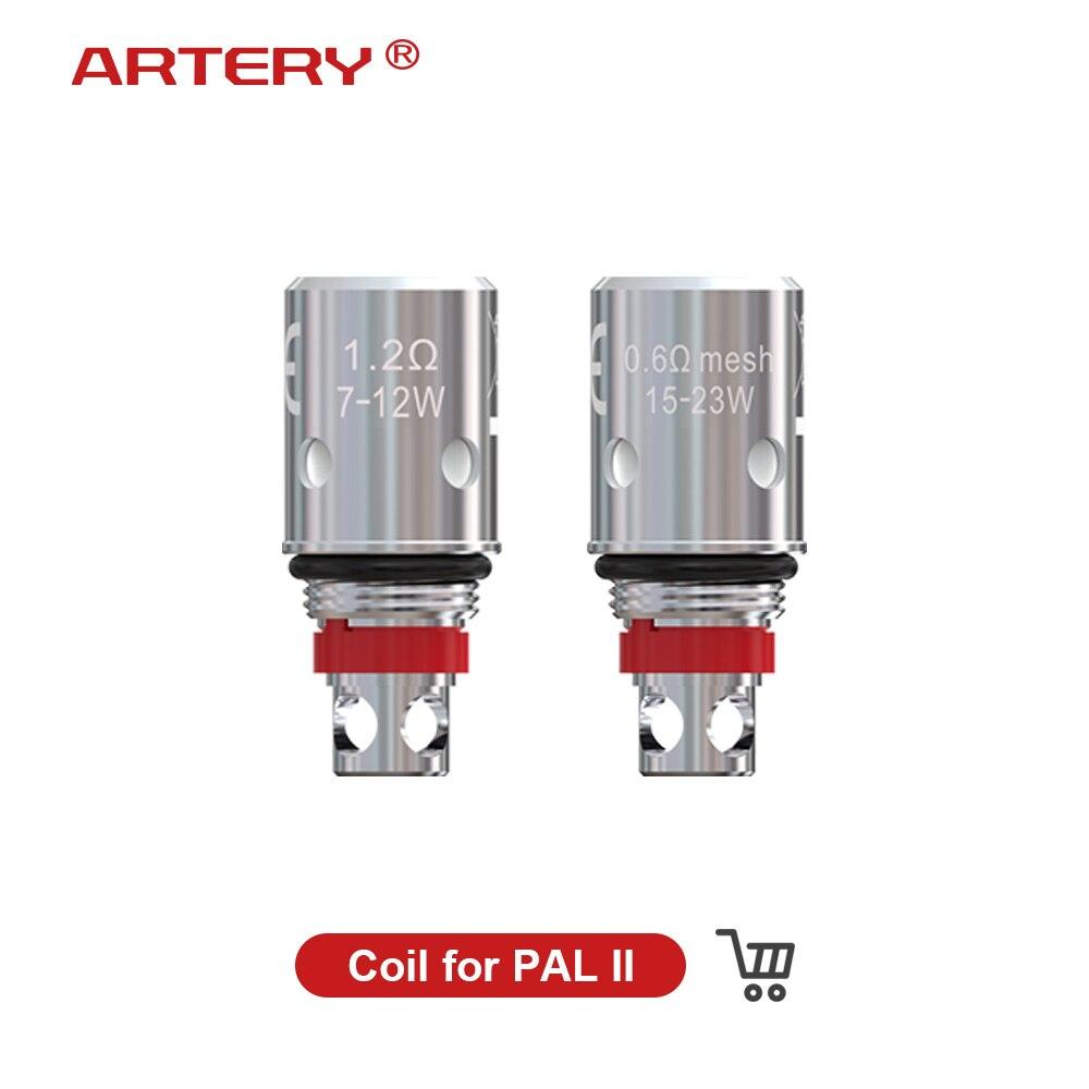 Zerstäuber Core 5 stücke Coil Kopf für Arterie PAL 2 II Pod 0.6ohm Mesh 1.2ohm MTL Ersatz Spule Vape Ecigarette zerstäuber Kopf Kerne