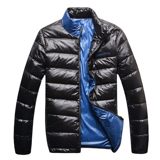 Novo estilo dos homens de roupas para baixo casaco outerwear térmica moda casual breve frete grátis