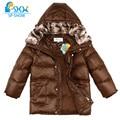 Reimo Para Baixo Jaqueta de inverno Para Meninos Meninos De Luxo Da Marca Jaqueta de Inverno com gola de pele crianças casacos para 7-13 anos de idade menino parkas 0158