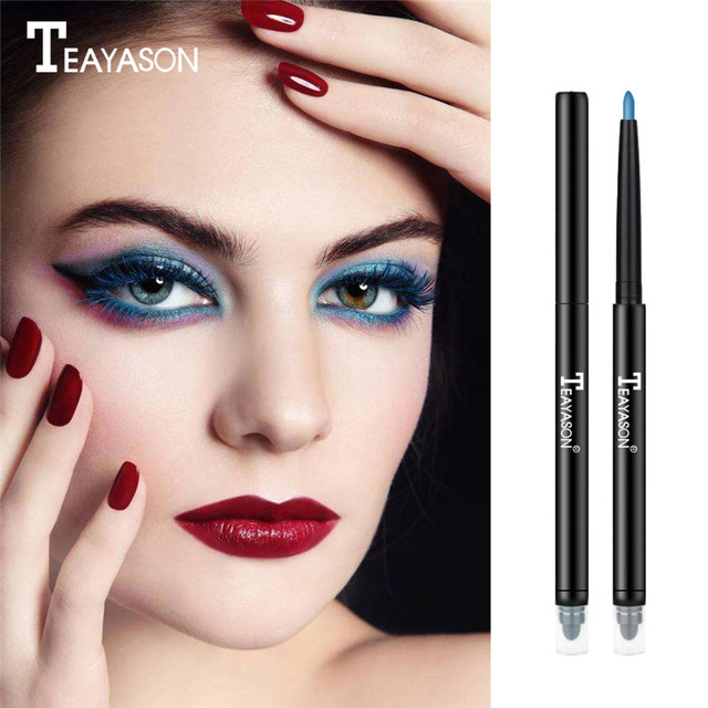 Teayason Double-Headed Waterproof Liquid Eyeliner Pen Eye's Makeup Cosmetic Tool Long-Lasting Eye Liner Pencil for Eyeshadow 4