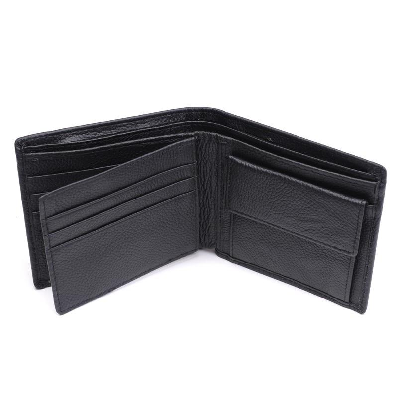 Новинка, мужской кошелек из натуральной кожи, брендовые кошельки для мужчин, черный, коричневый, двойной кошелек, RFID Блокировка, кошельки с подарочной коробкой MRF7