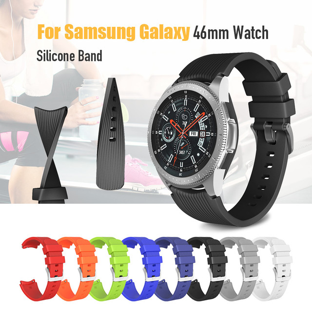 22mm Width Soft Silicone Strap for Samsung Galaxy Watch 46mm Band Silicone Watch