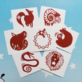 Семь смертных грехов Nanatsu нет Taizai дракона грех гнев стикер татуировки водонепроницаемый 7 шт./компл. потому косплей забавные игрушки