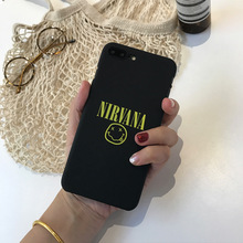 Smile expression shell for iPhone 6 case NIRVANA letter case for Apple iPhone 7 case 6 6s 6plus 7 7plus